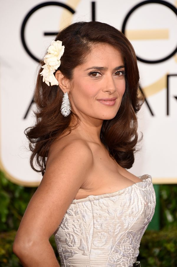 BEVERLY HILLS, CA - JANUARY 11:  Actress Salma Hayek attends the 72nd Annual Golden Globe Awards at The Beverly Hilton Hotel