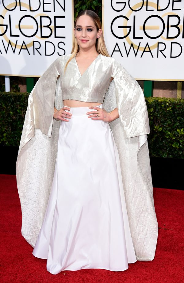 BEVERLY HILLS, CA - JANUARY 11:  Actress Jemima Kirke attends the 72nd Annual Golden Globe Awards at The Beverly Hilton Hotel