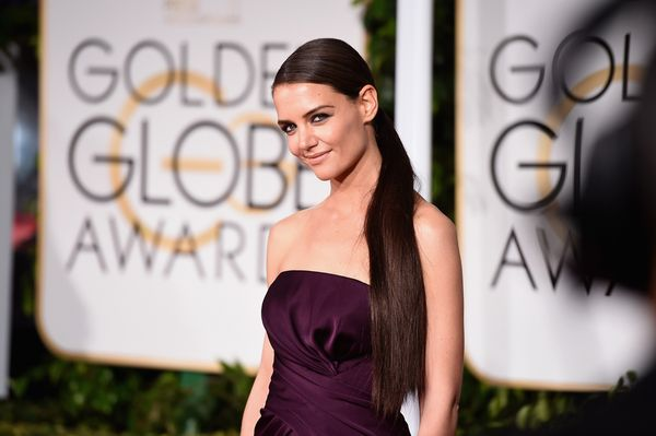 BEVERLY HILLS, CA - JANUARY 11:  Actress Katie Holmes attends the 72nd Annual Golden Globe Awards at The Beverly Hilton Hotel
