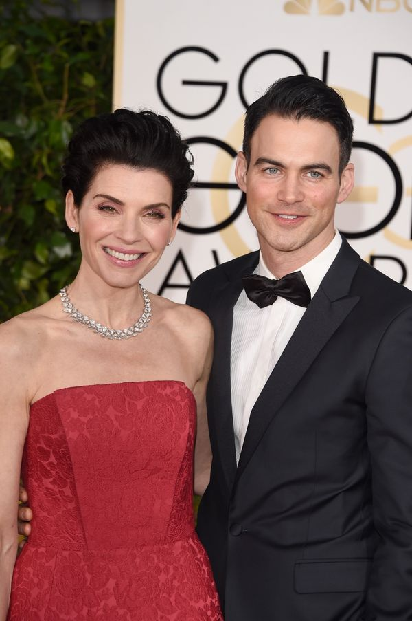 BEVERLY HILLS, CA - JANUARY 11:  Actress Julianna Margulies and Keith Lieberthal attend the 72nd Annual Golden Globe Awards a
