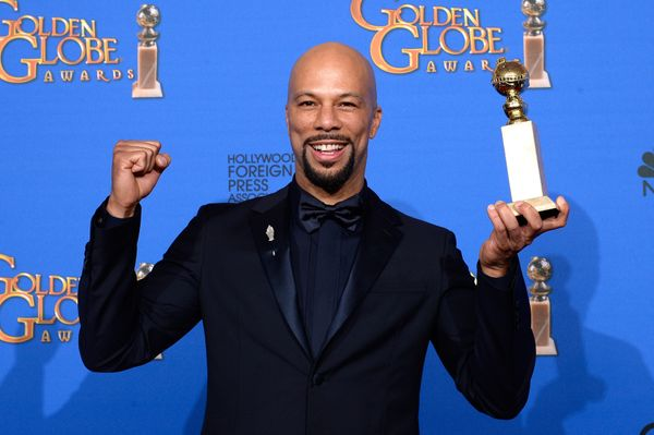 BEVERLY HILLS, CA - JANUARY 11:  72nd ANNUAL GOLDEN GLOBE AWARDS -- Pictured: Recording artist/actor Common, winner of the Be