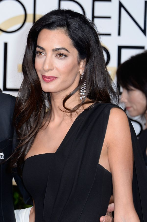 BEVERLY HILLS, CA - JANUARY 11:  72nd ANNUAL GOLDEN GLOBE AWARDS -- Pictured: Lawyer Amal Clooney arrives to the 72nd Annual