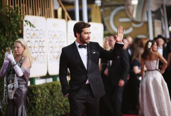 BEVERLY HILLS, CA - JANUARY 11:  72nd ANNUAL GOLDEN GLOBE AWARDS -- Pictured: Actor Jake Gyllenhaal arrives to the 72nd Annua