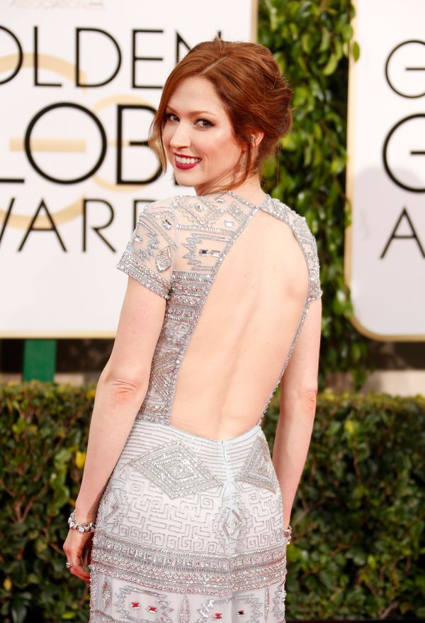 BEVERLY HILLS, CA - JANUARY 11:  Actress Ellie Kemper attends the 72nd Annual Golden Globe Awards at The Beverly Hilton Hotel