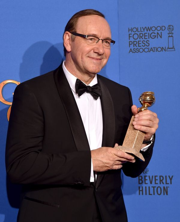 BEVERLY HILLS, CA - JANUARY 11:  Actor Kevin Spacey, winner of Best Actor in a Television Series – Drama for 'House of Cards