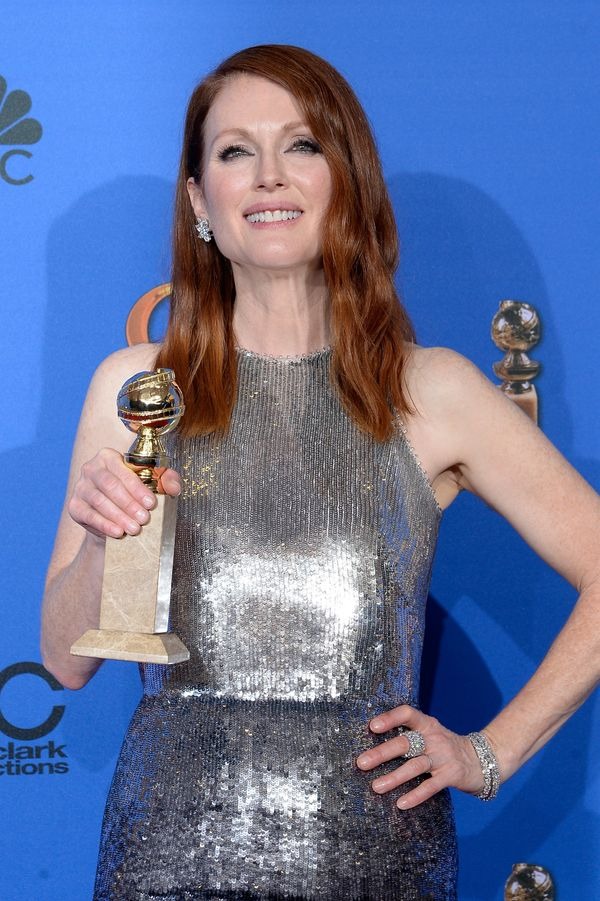 BEVERLY HILLS, CA - JANUARY 11:  72nd ANNUAL GOLDEN GLOBE AWARDS -- Pictured: Actress Julianne Moore, winner of Best Performa