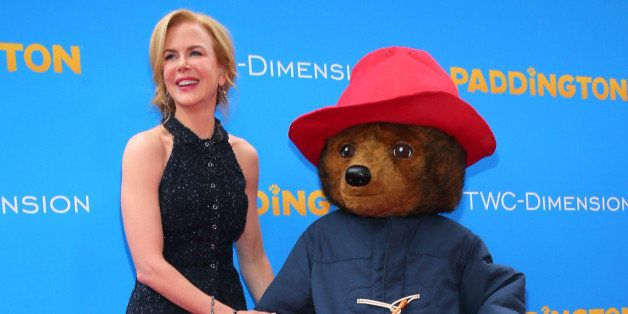 HOLLYWOOD, CA - JANUARY 10:  Actress Nicole Kidman and Paddington the Bear attend the premiere of TWC-Dimension's 'Paddington
