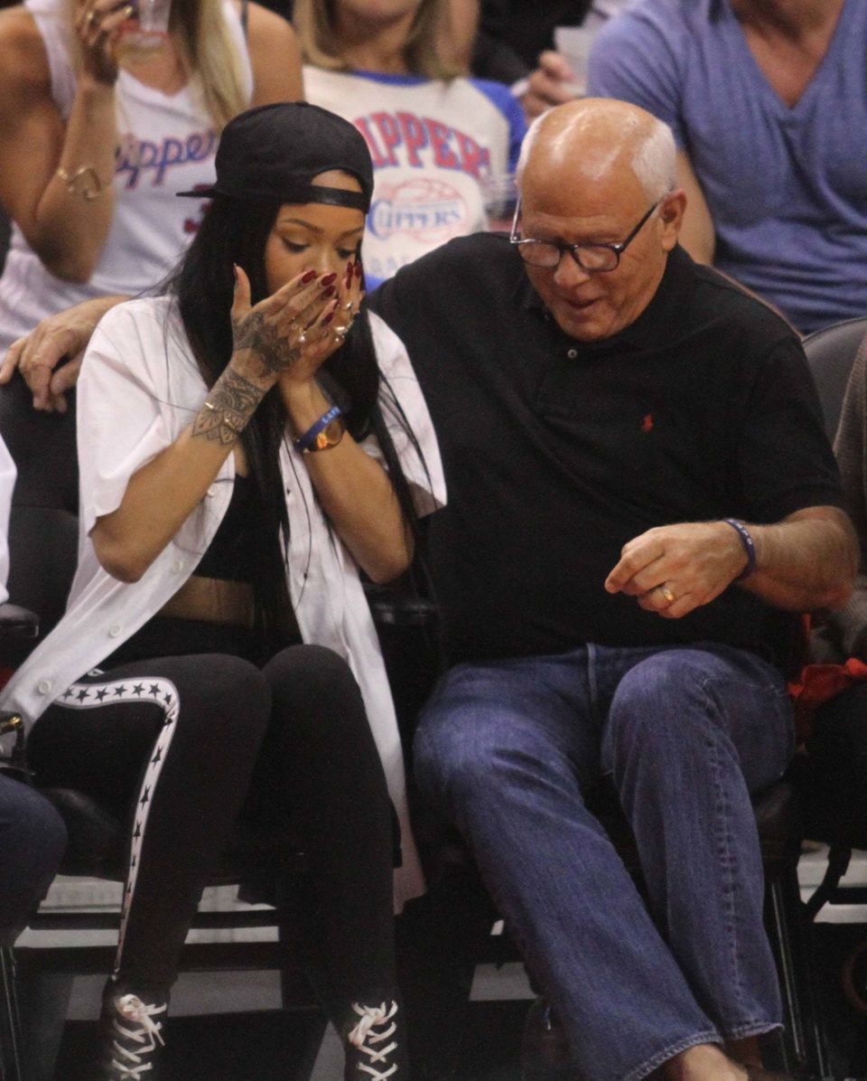 This is what happens when a good selfie goes bad, Rihanna broke a fan's phone during a basketball game this year while attemp