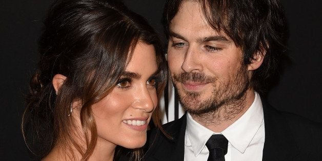 BEVERLY HILLS, CA - JANUARY 11:  Nikki Reed and Ian Somerhalder attend the 2015 InStyle And Warner Bros. 72nd Annual Golden G