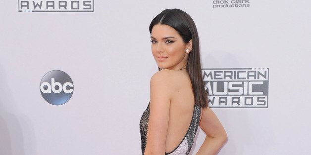 LOS ANGELES, CA - NOVEMBER 23:  Kendall Jenner arrives at the 2014 American Music Awards at Nokia Theatre L.A. Live on Novemb