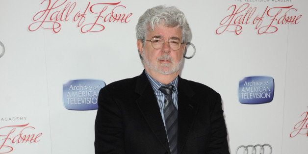 """George Lucas arrives at The Academy of Television Arts and Sciences """"22nd Annual Hall of Fame Ceremony"""" at the Beverly Hilton"""