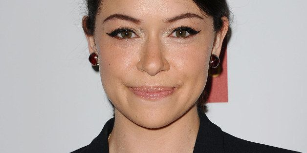 BEVERLY HILLS, CA - APRIL 12:  Actress Tatiana Maslany attends the 25th annual GLAAD Media Awards at The Beverly Hilton Hotel