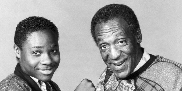 THE COSBY SHOW -- Season 3 -- Pictured: (l-r) Malcolm-Jamal Warner as Theodore 'Theo' Huxtable, Bill Cosby as Dr. Heathcliff