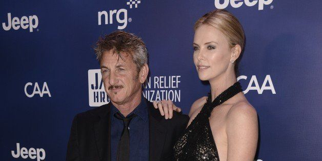 """Sean Penn, left, and Charlize Theron arrive at the 4th annual Sean Penn and Friends """"Help Haiti Home"""" Gala at the Montage Hot"""