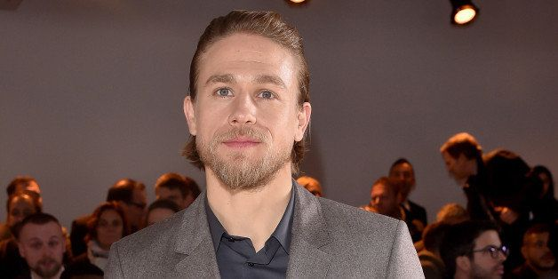 MILAN, ITALY - JANUARY 18:  Charlie Hunnam attends the Calvin Klein Collection show during the Milan Menswear Fashion Week Fa