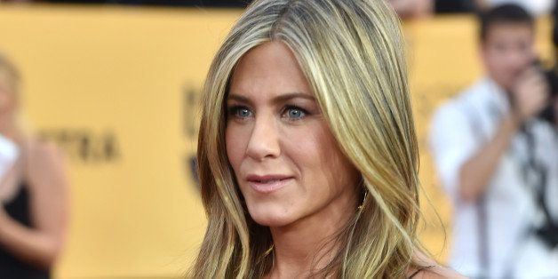 LOS ANGELES, CA - JANUARY 25:  Actress Jennifer Aniston attends TNT's 21st Annual Screen Actors Guild Awards at The Shrine Au