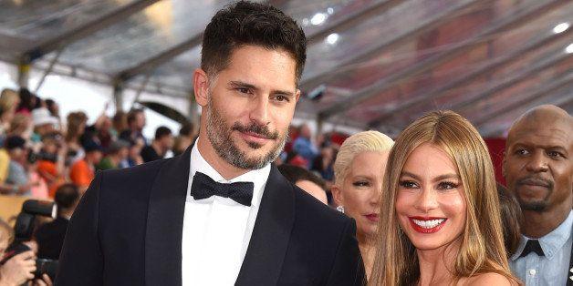 LOS ANGELES, CA - JANUARY 25:  Sofia Vergara and Joe Manganiello arrives at the 21st Annual Screen Actors Guild Awards at The