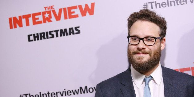 LOS ANGELES, CA - DECEMBER 11:  Seth Rogen arrives at the Los Angeles premiere of 'The Interview' held at The Theatre at Ace
