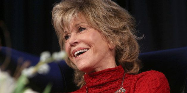 PARK CITY, UT - JANUARY 26:  Actress Jane Fonda appears onstage at the Woman at Sundance Brunch during the 2015 Sundance Film