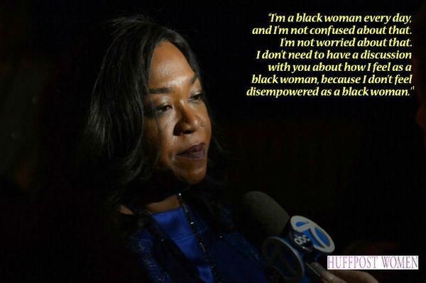 """""""I'm a black woman every day, and I'm not confused about that. I'm not worried about that. I don't need to have a discussion"""