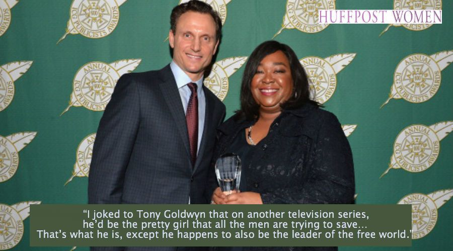 """I joked to Tony Goldwyn that on another television series, he'd be the pretty girl that all the men are trying to save… Tha"