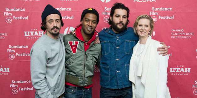 """Director Josh Mond, musician/actor Kid Cudi, actor Christopher Abbott and actress Cynthia Nixon seen at the premiere of """"Jame"""