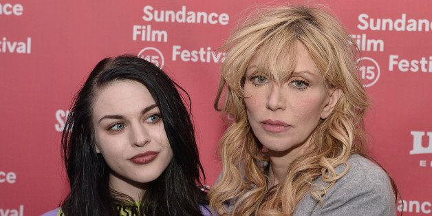 PARK CITY, UT - JANUARY 24:  Frances Bean Cobain and Courtney Love attend the 'Kurt Cobain: Montage Of Heck' Premiere during