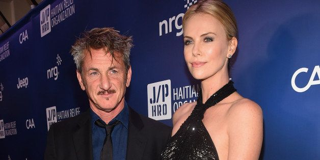 LOS ANGELES, CA - JANUARY 10:  Founder and CEO of J/P Haitian Relief Organization Sean Penn (L) and Charlize Theron attend th