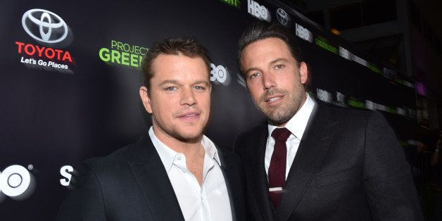 Matt Damon and Ben Affleck are seen at the HBO Project Greenlight Filmmaker Showcase on Friday, Nov. 7, 2014 in Hollywood, Ca