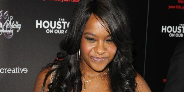 """Bobbi Kristina Brown attends the premiere party for """"The Houstons On Our Own"""" at the Tribeca Grand hotel on Monday, Oct. 22,"""