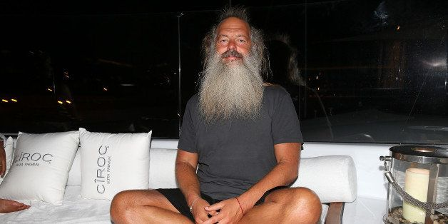GUSTAVIA, ST BARTHELEMY - DECEMBER 31:  Rick Rubin celebrates with their Circle of Friends at CIROC NYE in St Barthes hosted