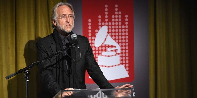 LOS ANGELES, CA - FEBRUARY 03:  National Academy of Recording Arts and Sciences President Neil Portnow speaks onstage during