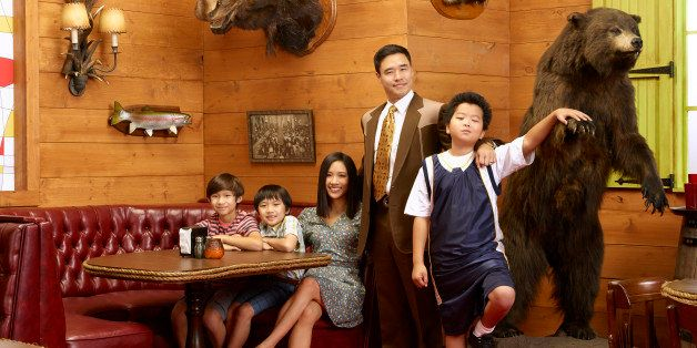 FRESH OFF THE BOAT - ABC's 'Fresh Off the Boat' stars Forrest Wheeler as Emery, Ian Chen as Evan, Constance Wu as Jessica, Ra