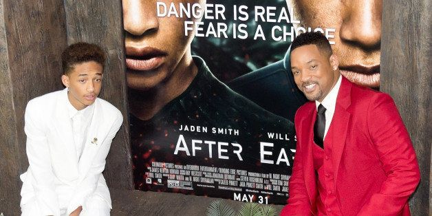 NEW YORK, NY - MAY 29:  (L-R) Actors Jaden Smith and Will Smith attends the 'After Earth' premiere at Ziegfeld Theater on May
