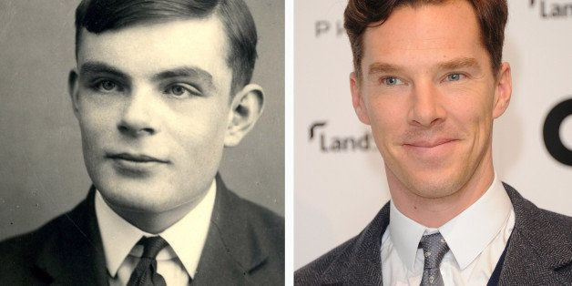 (FILE PHOTO) In this composite image a comparison has been made between Alan Turing (L) and actor Benedict Cumberbatch. Actor