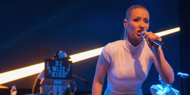 PARK CITY, UT - JANUARY 24:  Iggy Azalea performs on stage at Park City Live during the 2015 Sundance Film Festival at Park C