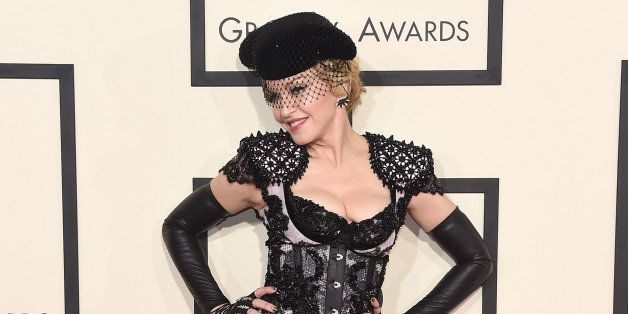 LOS ANGELES, CA - FEBRUARY 08:  Singer Madonna attends The 57th Annual GRAMMY Awards at the STAPLES Center on February 8, 201