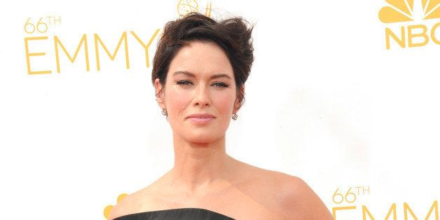 LOS ANGELES, CA - AUGUST 25:  Actress Lena Headey arrives for the 66th Annual Primetime Emmy Awards  held at Nokia Theatre L.