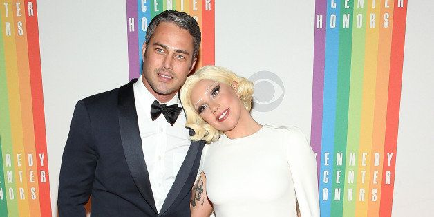 WASHINGTON, DC - DECEMBER 07:  Taylor Kinney and Lady Gaga arrive at the 37th Annual Kennedy Center Honors at the John F. Ken
