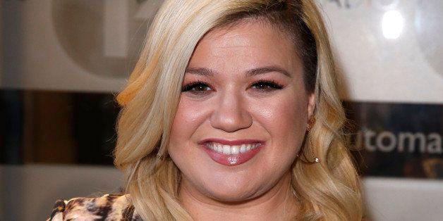 LONDON, UNITED KINGDOM - FEBRUARY 17: Kelly Clarkson seen arriving at the BBC Radio 1 Studios on February 17, 2015 in London,