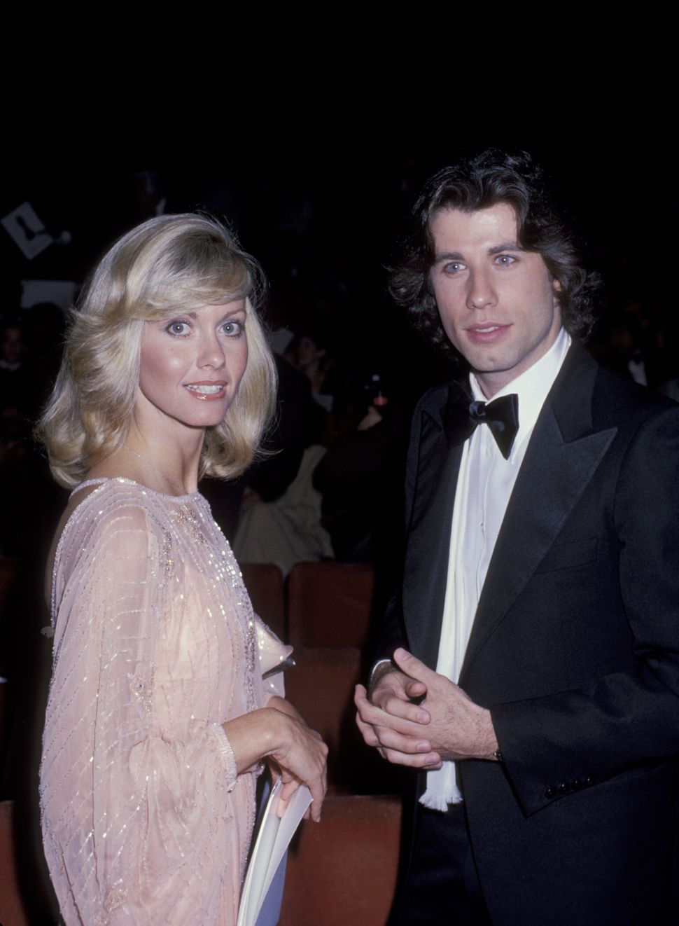 Olivia Newton-John and John Travolta during the 50th annual Academy Awards in 1978.