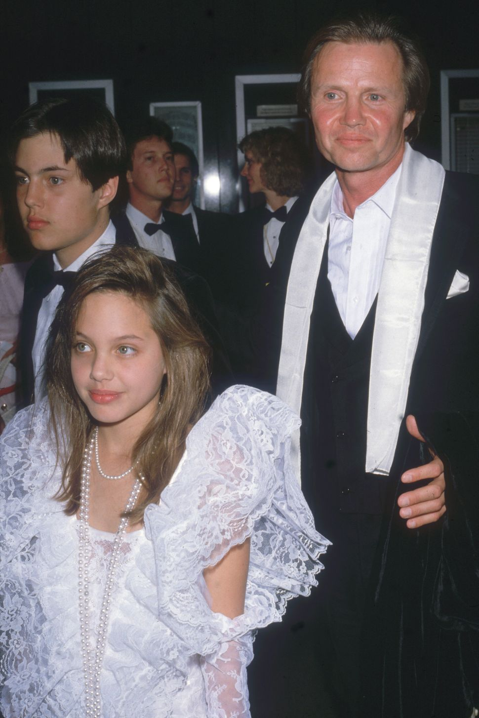 Jon Voight at the 58th annual Academy Awards with his son James Haven and daughter Angelina Jolie in 1986.