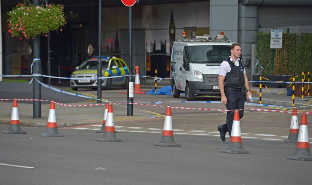 A police cordon was put in place after the incident, which took place on Tuesday
