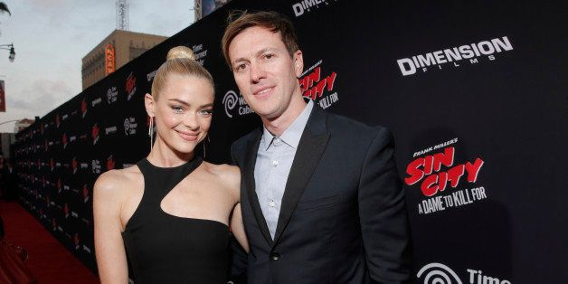 "Jaime King and Kyle Newman attend the Los Angeles premiere of ""Sin City: A Dame To Kill For"" at the TCL Chinese Theatre on Tu"
