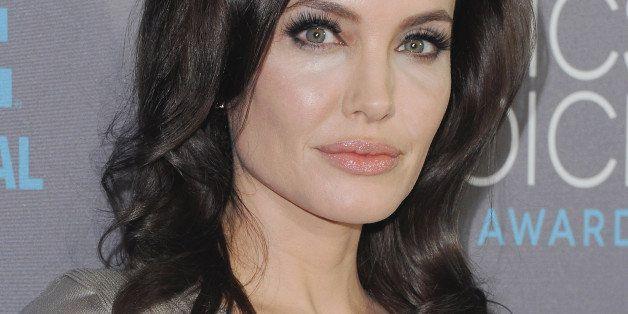 LOS ANGELES, CA - JANUARY 15:  Actress Angelina Jolie arrives at the 20th Annual Critics' Choice Movie Awards at Hollywood Pa