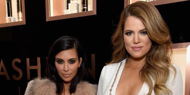 NEW YORK, NY - FEBRUARY 10:  Kim Kardashian West, Khloe Kardashian and Farouk Systems, Inc. Celebrate the Launch of Kardashia