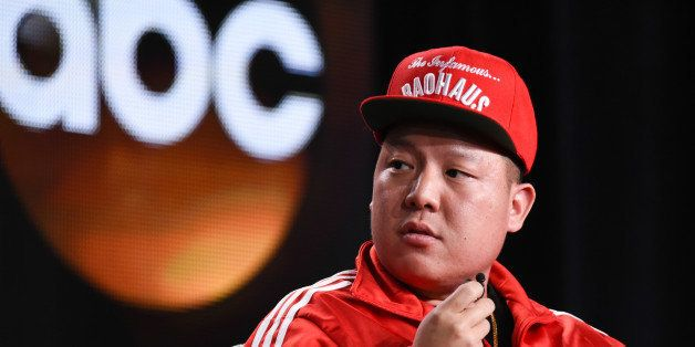 """Eddie Huang appears during the """"Fresh Off the Boat"""" panel at the Disney/ABC Television Group 2015 Winter TCA on Wednesday, Ja"""