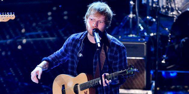 SANREMO, ITALY - FEBRUARY 14:  Ed Sheeran attends the closing night of 65th Festival di Sanremo 2015 at Teatro Ariston on Feb