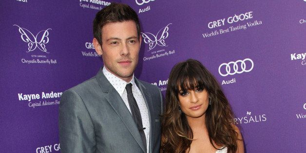 LOS ANGELES, CA - JUNE 08:  Actors Cory Monteith and Lea Michele arrive at the 12th Annual Chrysalis Butterfly Ball on June 8