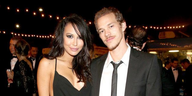 LOS ANGELES, CA - OCTOBER 30:  Actors Naya Rivera (L) and Ryan Dorsey at The UNICEF Dia de los Muertos Black & White Masquera